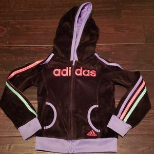 Adidas open front hoodies